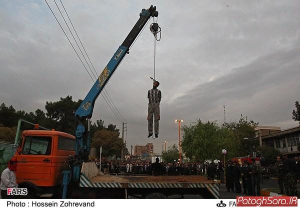 اعدام قاتل متجاوز به عنف در قرچک (تصویری)