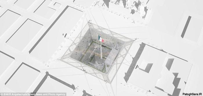 یک برج هرمی معکوس با ۶۵ طبقه در زیر زمین !