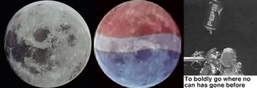 لوگوی پپسی در ۱۶ خرداد ۹۱ روی کره ماه