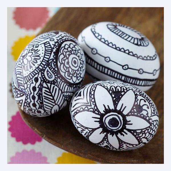 تخم مرغ های رنگی سفره هفت سین برای عید نوروز